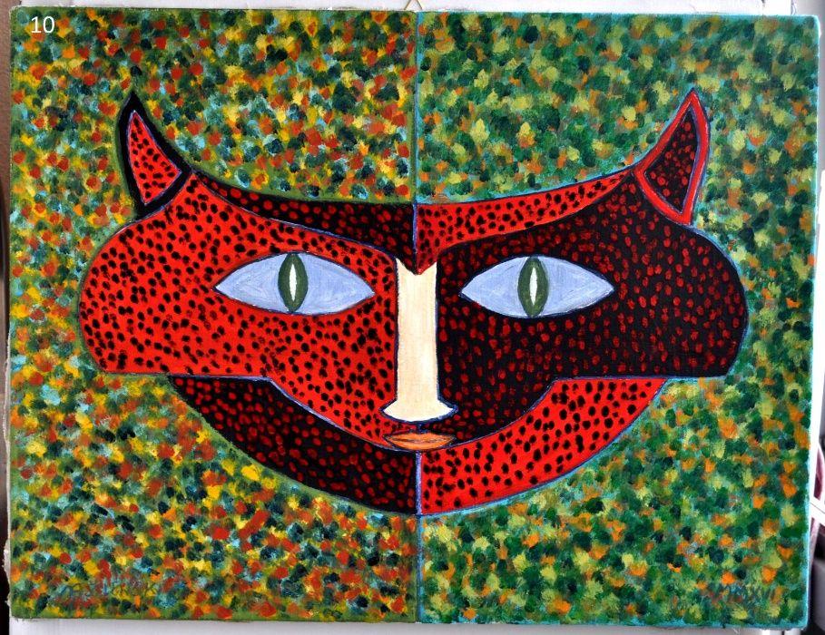 Obraz olejny 50x65 - Słodka kotka z ramą Warszawa - image 1
