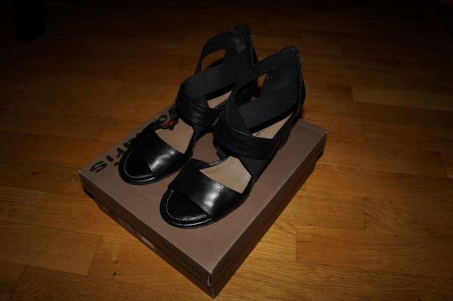Sandały damskie czarne skóra TAMARIS r. 41 NOWE