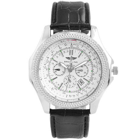 Часы наручные Breitling White ремешок черный