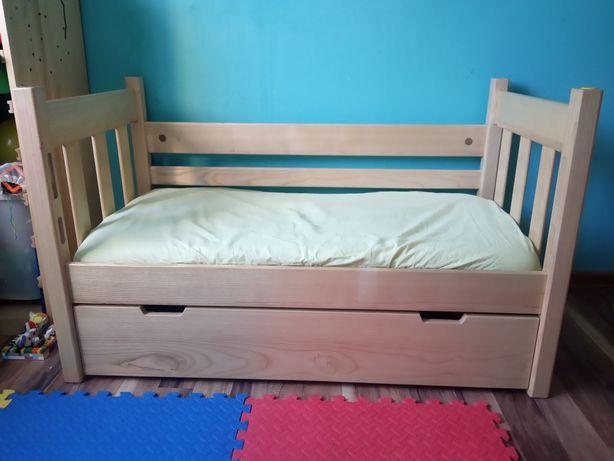 PILNE! Drewniane łóżeczko z szufladą 120x60 - ręczna robota hand made