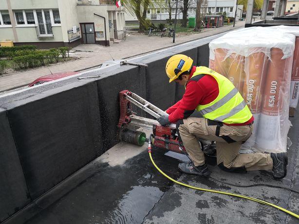 Cięcie wiercenie betonu żelbetu. Wycinanie otworów. Ściany stropy.