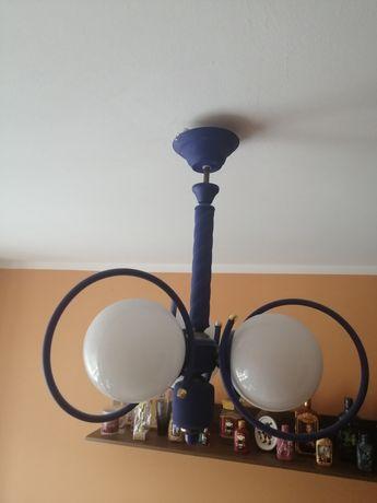 Lampa sufitowa niebieska