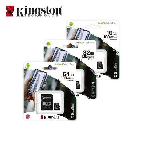 Карта памяти Micro SD Kingston 8, 16, 32, 64, 128 Gb Class 10 (+ опт)