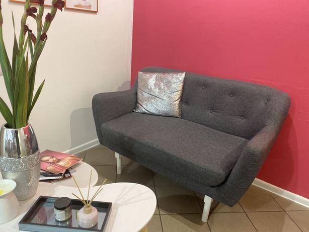 Kanapa,sofa szara+poduszka