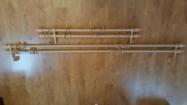 Karnisze drewniane kompletne