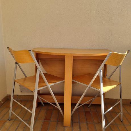 Mesa cozinha dobrável + 2 cadeiras, Habitat
