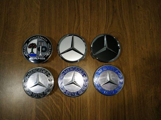 TODOS os Centros de jantes Mercedes Benz 75mm & Simbolo capô 57 mm