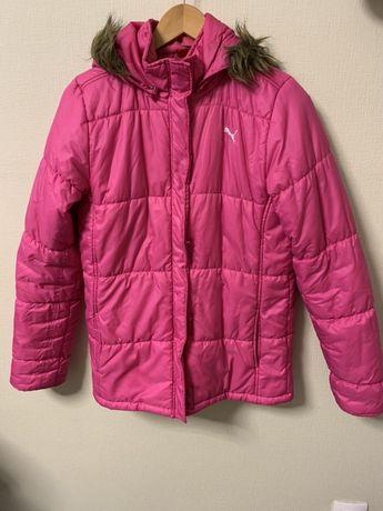 Куртка PUMA пуховая розовая пуховик зимний пума. Размер 44-46 С-М