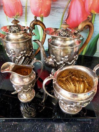 Sprzedam Przepiękny komplet ze srebra do kawy i herbaty