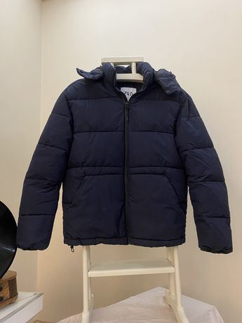 Zara мужской пуховик пуффер L невесомый куртка зима