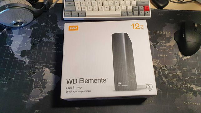 CMR WD Elements Desktop 12TB WDBWLG0120HBK-EESN 3.5 SATA HDD под CHIA