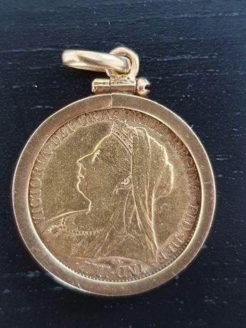 Libra de ouro Rainha Vitória ano(1895)