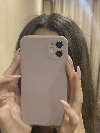 розовый чехол на айфон 11