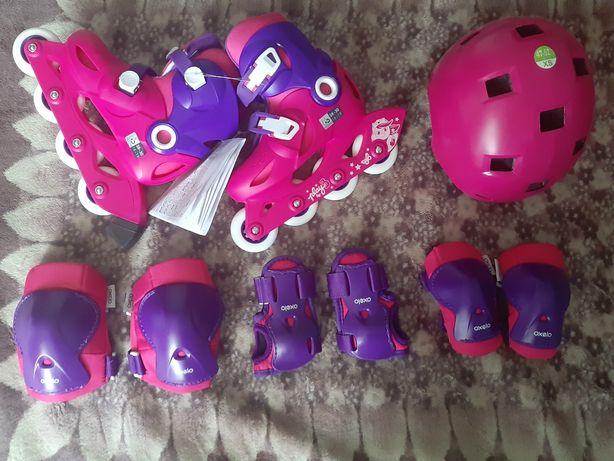 Продам ролики+защита и шлем + ТОРГ