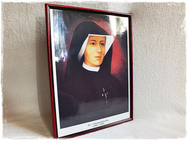 Stary Święty Obraz Św. Siostra Faustyna Kowalska