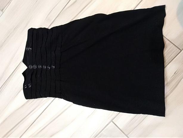 Czarna spódniczka mini z wysokim stanem
