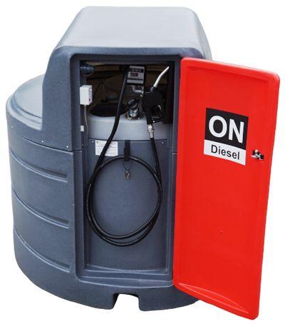 Zbiornik DIESEL dwupłaszczowy paliwo paliwa 2500L z DYSTRYBUTOR