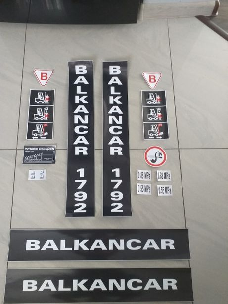 Naklejki na Wózek Bułgar Balkancar