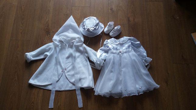 Sukienka wizytowa, chrzest, roczek z dodatkami rozmiar 86