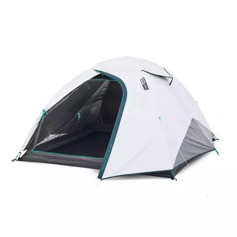 палатка для кемпинга 3-местная mh100 fresh & black quechua