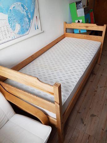 Łóżko sosnowe dziecięce 180/80