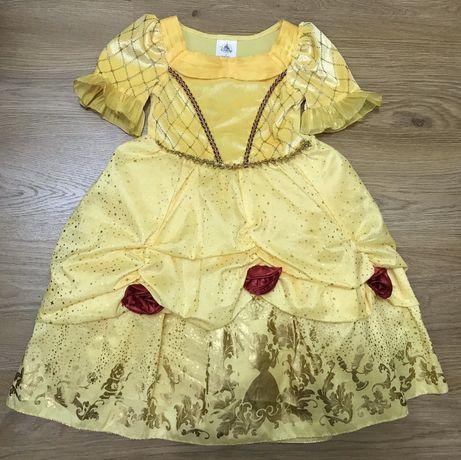 Карнавальное платье принцессы Бель на 3 года Disney