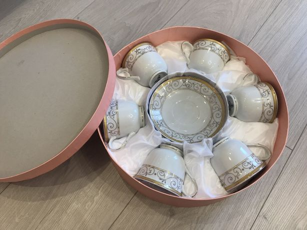 Чайный сервиз Interos на 6 персон 12 предметов в подарочной упаковке