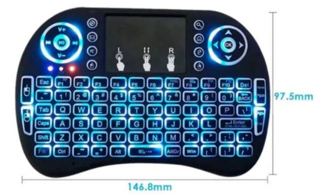 Mini Teclado. para Smart Tv, Boxes,Tablets, Projectores,.