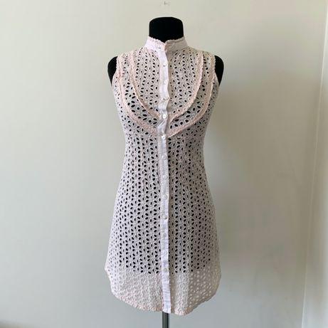 Ажурное платье в стиле balmain