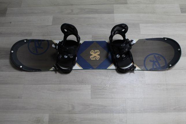 Deska Snowboard ROSSIGNOL EXP 120 cm + Wiązania 5150
