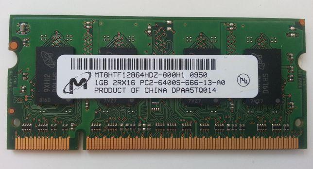 Pamięć RAM DDR2 1GB 6400S 666 Micron Technology MT8HTF12864HDZ-800H1
