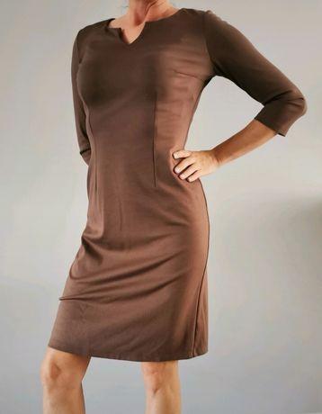 Kakaowa sukienka