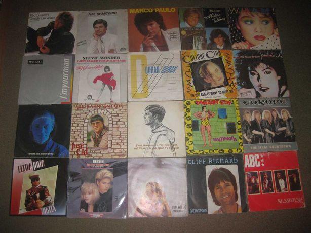 Lote de 28 Discos em Vinil Single 45 rpm/Vários Géneros!