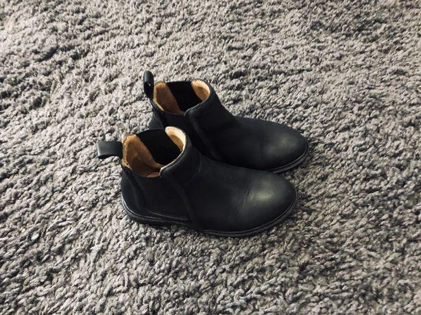 Кожаные ботинки сапоги деми челси девочке 27 28 29 zara hm next