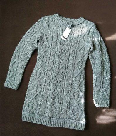 Супер теплое вязанное платье D&G