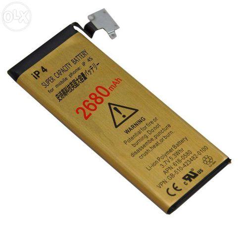 Bateria para Iphone 4 ou 4s 2680mAh Extra capacidade autonomia NOVA