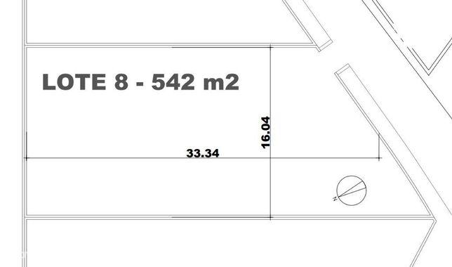 Lote de terreno plano urbano com 542m2