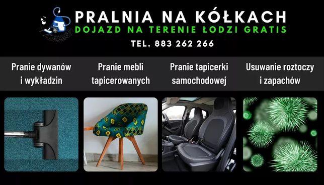 Pranie tapicerki meblowej i samochodowej, dywanów. Łódź dojazd gratis