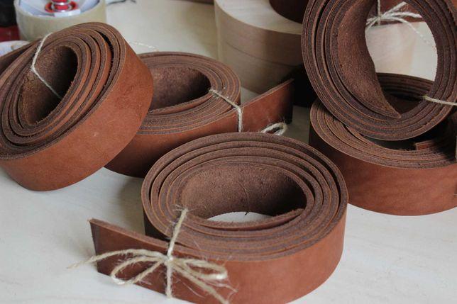 Ременные коричневые полосы. Заготовки для Мужских и Женских Ремней.4мм