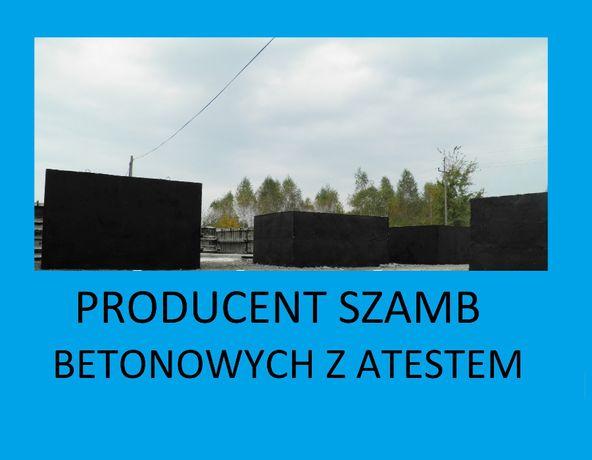 szamba betonowe betonowy zbiorniki na szambo ścieki 4,5,6,8,10,12,14m3