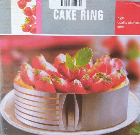 Cake ring do pieczenia, krojenia tortów, biszkoptów, ciast, tortownica