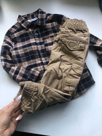 Комплект на мальчика 12-18. Рубашка штаны джогеры спортивные