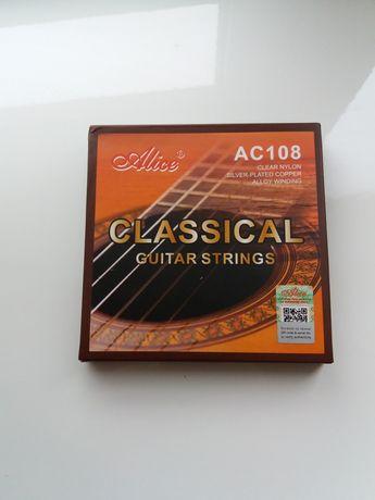Струны нейлоновые для классической гитары Alice AС108N