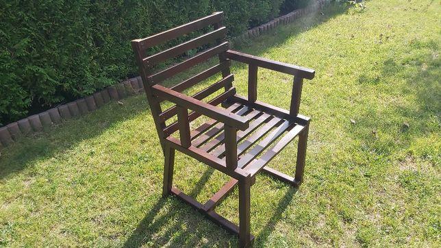 Fotel drewniany ogrodowy bukowy