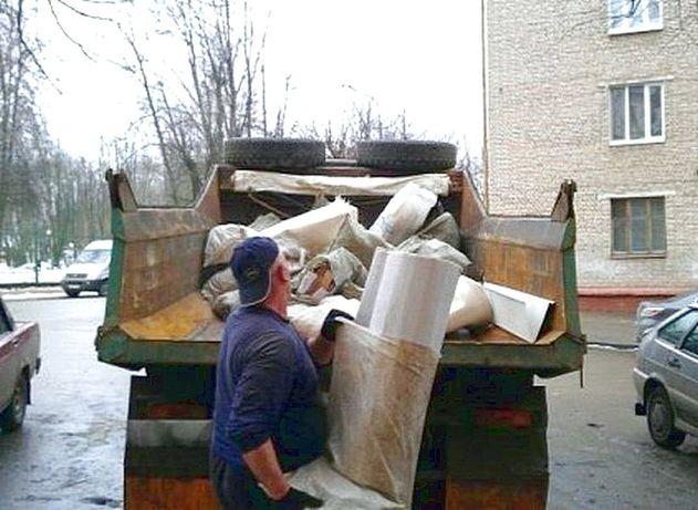 Вывоз строительного мусора разнорабочие демонтаж грузчики