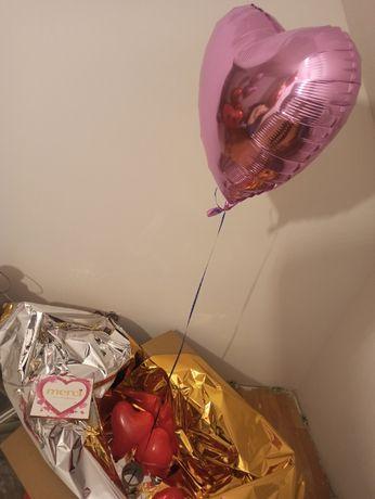 Balon serce z HELEM poczta balonowa RÓŻNE