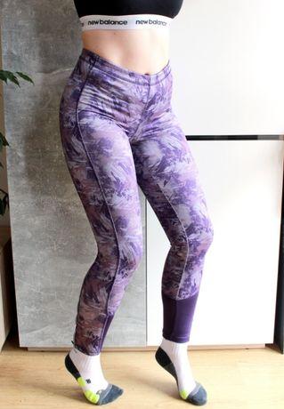Legginsy sportowe do biegania na jogę siłownię strething S M wzór