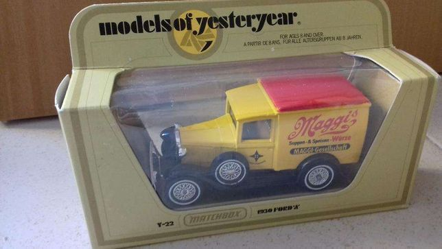 Matchbox - Models of yesteryear Ford A, T Correios, potato chips raros