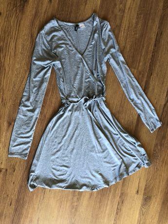 Sukienka dresowa szara, rozmiar xs, H&M