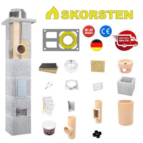 Skorsten Plus Komin Systemowy Fi 200 4 m + 2 wentylacje